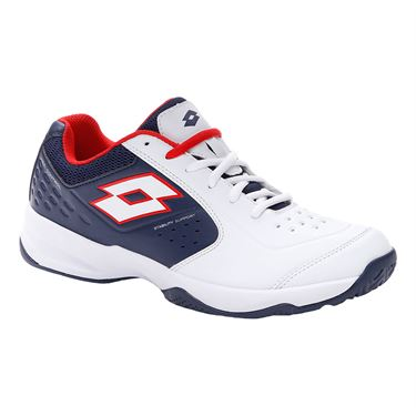 Lotto Space 600 II ALR Mens Tennis Shoe White/Navy/Red 213630 5XZ