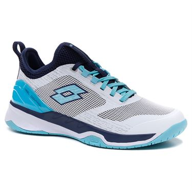 Lotto Mirage 200 Speed Womens Tennis Shoe All White/Blue Radiance/Navy Blue 213634 6VN