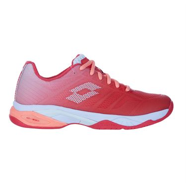 Lotto Mirage 300 Speed II Womens Tennis Shoe Red Fluo/White/Rose 213636 5YG