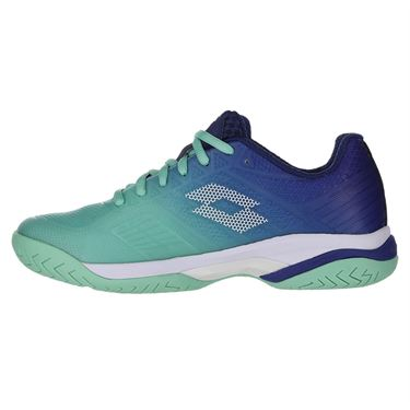 Lotto Mirage 300 Speed II Womens Tennis Shoe Green/Blue 213636 5YH