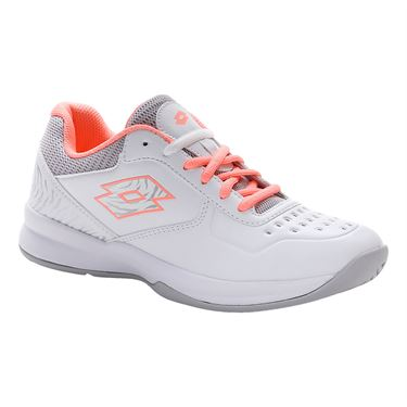 Lotto Space 600 II ALR Womens Tennis Shoe White/Rose/Silver 213637 5Y1