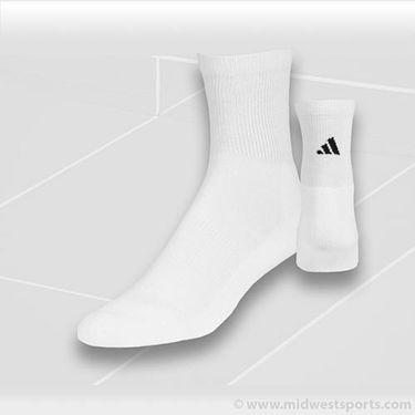 adidas All Sport Half Crew White 2-Pack Socks