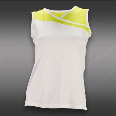 Pure Lime Zest Tank-White/Bright Lime