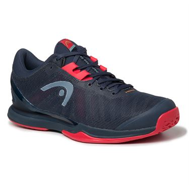 Head Sprint Pro 3.0 Mens Tennis Shoe Midnight Navy/Neon Red 273000