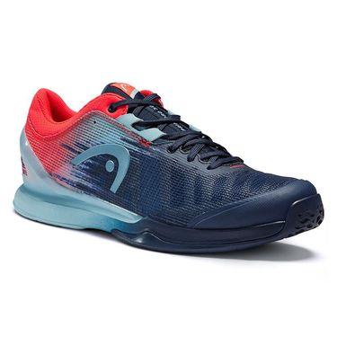 Head Sprint Pro 3.0 Mens Tennis Shoe Navy/Neon Red 273001