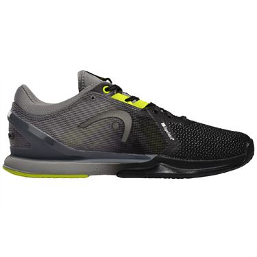 Head Sprint Pro 3.0 Superfabric Mens Tennis Shoe Black/Yellow 273980