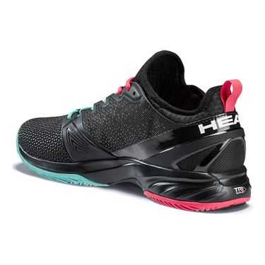 Head Sprint Super Fabric Mens Tennis Shoe - Black/Teal