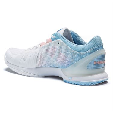 Head Sprint Pro 3.0 Womens Tennis Shoe White/Light Blue 274041