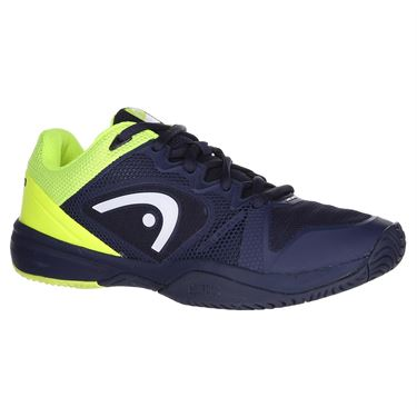 Head Revolt Pro 2.5 Junior Tennis Shoe - Dark Blue/Neon Yellow