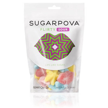 Sugarpova Flirty Lips Sour Gummy Candy