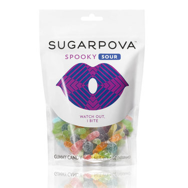 Sugarpova Spooky Sour Spiders Gummy Candy