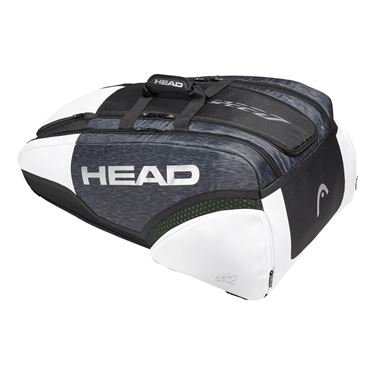 Head Djokovic 12 Pack Monstercombi Tennis Bag - White/Black