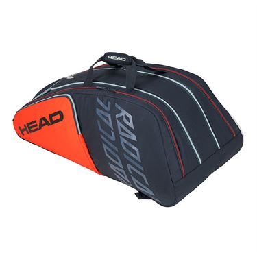 Head Radical 12 Racquet Monstercombi Tennis Bag - Orange/Grey