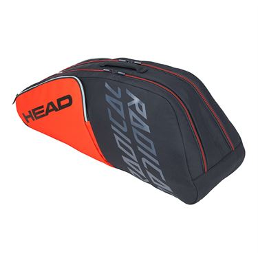 Head Radical 6 Racquet Combi Tennis Bag - Orange/Grey