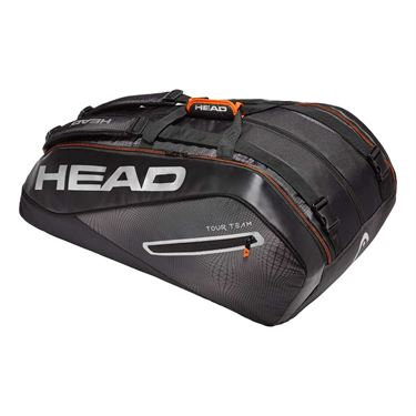Head Tour Team 12 Pack Monstercombi Tennis Bag - Black/Silver