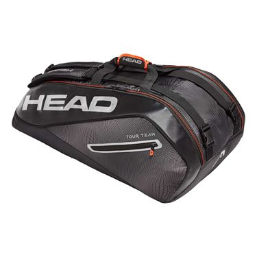 Head Tour Team 9 Pack Supercombi Tennis Bag - Black/Silver