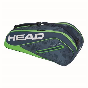 Head Tour Team 6 Pack Combi Tennis Bag - Navy/Green