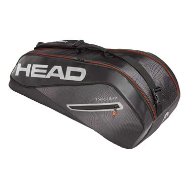 Head Tour Team 6 Pack Combi Tennis Bag - Black/Silver