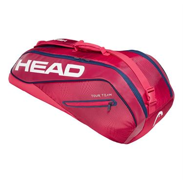 Head Tour Team 6 Pack Combi Tennis Bag - Raspberry/Navy