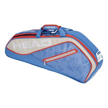 Head Tour Team 3 Pack Pro Tennis Bag - Light Blue/Sand