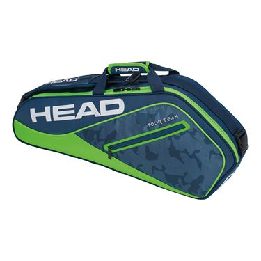 Head Tour Team 3 Pack Pro Tennis Bag - Navy/Green