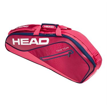 Head Tour Team 3 Pack Pro Tennis Bag - Raspberry/Navy