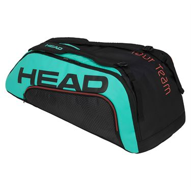 Head Tour Team 9 Racquet Supercombi Tennis Bag - Black/Teal