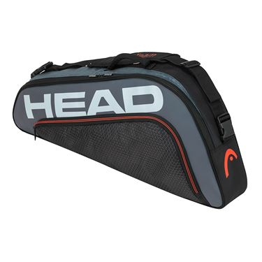 Head Tour Team 3 Racquet Pro Tennis Bag - Black/Grey