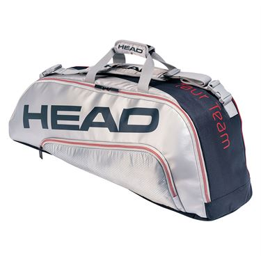 Head Tour Team 6 Racquet Combi Tennis Bag - Navy/Silver