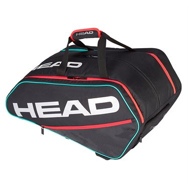 Head Tour Supercombi Pickleball Bag - Black/Teal/Crimson