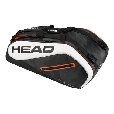 Head Tour Team 9 Pack Supercombi Tennis Bag - Black/White