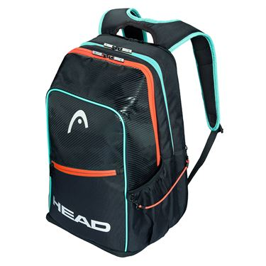 Head Tour Pickleball Backpack - Black/Teal/Crimson