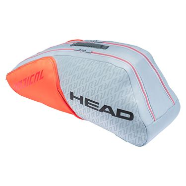 Head Radical Combi 6 Pack Tennis Bag - Grey/Orange