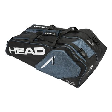 Head Core 6 Pack Combi Tennis Bag - Black/White