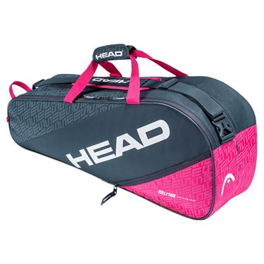 Head Elite Combi 6 Pack Tennis Bag - Anthracite/Pink