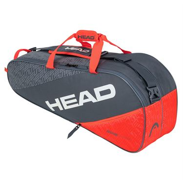 Head Elite Combi 6 Pack Tennis Bag - Grey/Orange