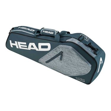 Head Core 3 Pack Combi Tennis Bag - Navy/Grey
