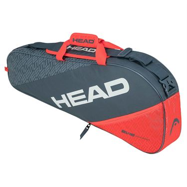 Head Elite Pro 3 Pack Tennis Bag - Grey/Orange