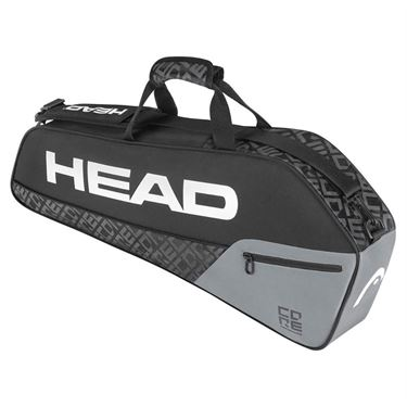 Head Core Pro 3 Pack Tennis Bag - Black/Grey