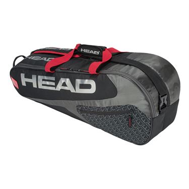 Head Elite 6 Pack Combi Tennis Bag - Black/Red