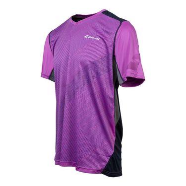 Babolat Performance V Neck Shirt - Dark Pink