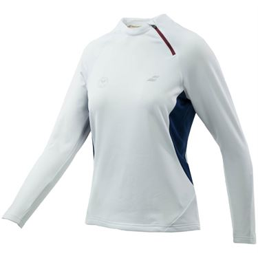 Babolat Wimbledon Perf 1/2 Zip Sweatshirt - White