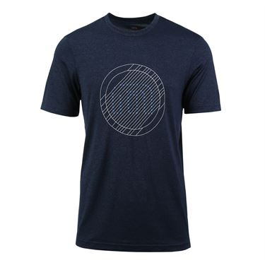 Travis Mathew Trial Shirt - Heather Blue Nights