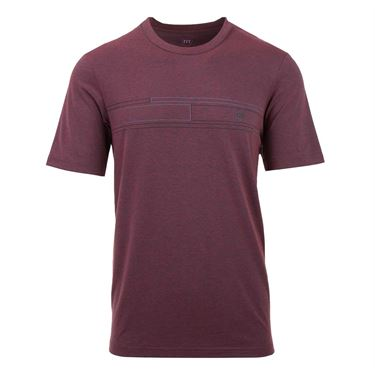 Travis Mathew The Revert Shirt - Heather/Ox Blood