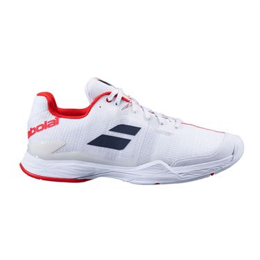 Babolat Jet Mach II All Court Mens Tennis Shoe (RUNS SMALL - SIZE UP 1/2 SIZE) -  White