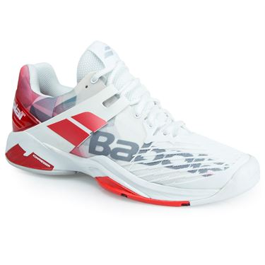 Babolat Propulse Fury All Court Mens Tennis Shoe - White/Red
