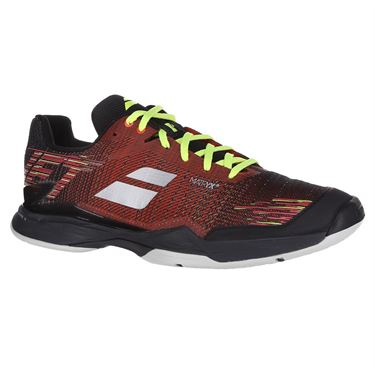 Babolat Jet Mach II All Court Mens Tennis Shoe (RUNS SMALL - SIZE UP 1/2 SIZE) Dark Red/Black