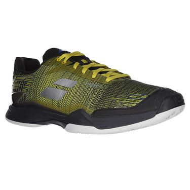 Babolat Jet Mach II Clay Mens Tennis Shoe (RUNS SMALL - SIZE UP 1/2 SIZE)- Dark Yellow/Black