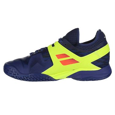 Babolat Propulse Rage All Court Mens Tennis Shoe - Blue/Fluo Aero