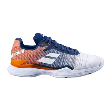 Babolat Jet Mach II All Court Mens Tennis Shoe White/Pureed Pumpkin 30S20629 1035